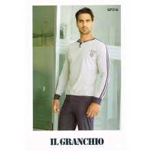 PIGIAMA UOMO GRANCHIO MANICA LUNGA ART GP316