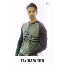 PIGIAMA UOMO GRANCHIO MANICA LUNGA ART GP318