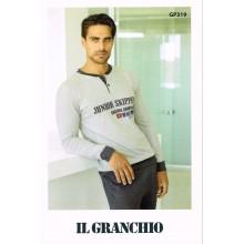PIGIAMA UOMO GRANCHIO MANICA LUNGA ART GP319