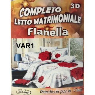 COPPIA MATRIMONIALE FLANELLA STAMPA DIGITALE 3D