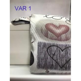 TRAPUNTINO MATRIMONIALE COTONE 3D LOVE YTALI