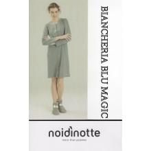 ART LA 1680 NOI DI NOTTE CAMICIA DA NOTTE DONNA CALDO COTONE