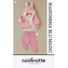 ART FT 367 NOI DI NOTTE COMPLETO NEONATA PIGIAMA+GIACCA COLLEZIONE2017/18