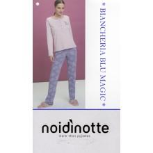 ART FA 6595 NOI DI NOTTE PIGIAMA DONNA CALDO COTONE COLLEZIONE 2018/19