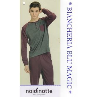 ART FC 1917 NOI DI NOTTE PIGIAMA UOMO CALDO COTONE