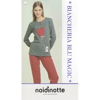 ART FA 6635 NOI DI NOTTE PIGIAMA DONNA CALDO COTONE COLLEZIONE 2018/19